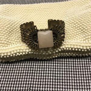 Vintage Corde Bead Clutch